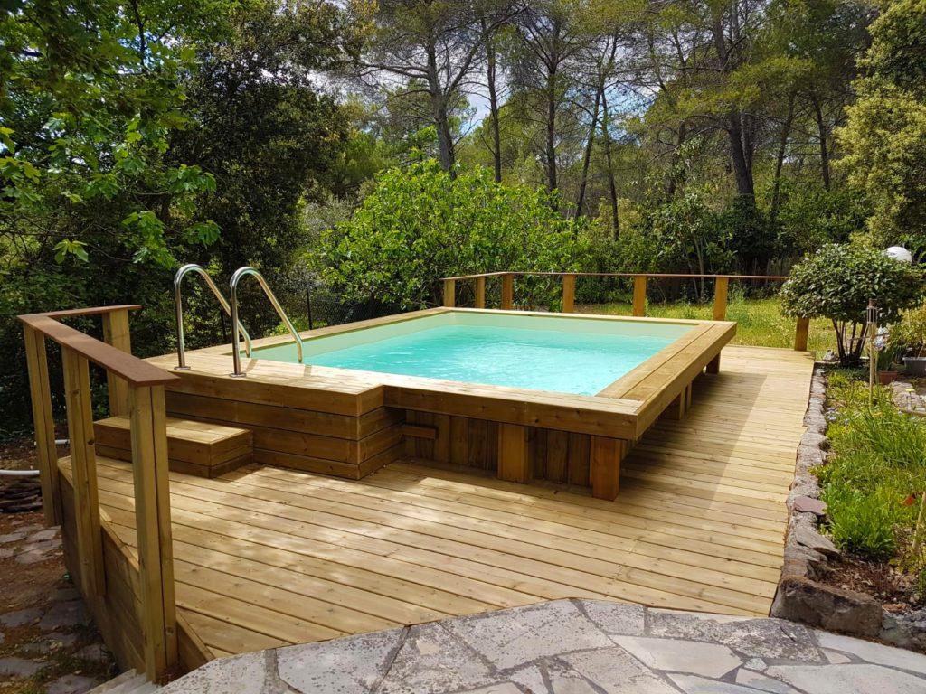 amenagement autour piscine bois