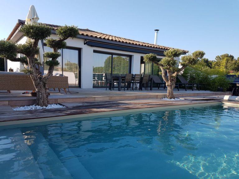 Magnifique piscine bois enterrée de 8m